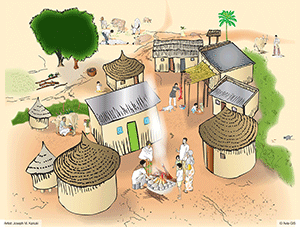 Sahel and North Africa village